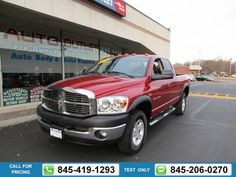 2007 DODGE RAM 1500 PICKUP SLT RED $17,991 67411 miles 845-419-1293 Transmission: Automatic  #DODGE #RAM 1500 PICKUP #used #cars #JimmysAutoOutlet #Fishkill #NY #tapcars
