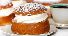 Photo about Typical swedish semla with sweet cream. Image of appetizer, icing, healthy - 23093928 Halloumi, Food Cakes, Icing, Cake Recipes, Appetizers, Yummy Food, Bread, Healthy, Sweet