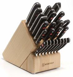 Wüsthof Wusthof Classic Block Set Home - Kitchen - Cutlery - Knife Blocks & Sets - Bloomingdale's Knife Block Set, Knife Sets, Crate And Barrel, Yogurt, Wusthof Knives, Santoku Knives, Tomato Knife, Wusthof Classic, Cooks Knife