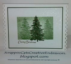 Masked, Inked and Stamped Christmas Card