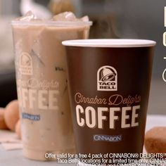 Taco Bell Cinnabon Delights Coffee Commercial