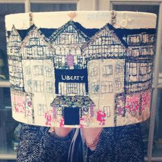 Www.marnalunt.co.uk Hand stitched lampshade of Liberty of London