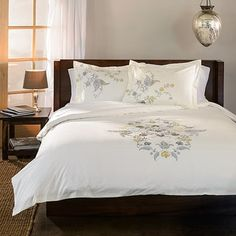 Shop For Superior Hyacinth Floral 3 Piece Embroidered Cotton Duvet Cover  Set. Get Free