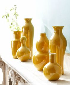 Add color with these sunny vases - Patio Decorating Tips