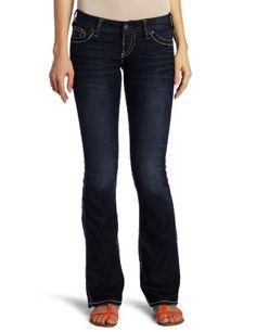 Silver Jeans Juniors Frances 18 Bootcut Jean, Dark Blue,