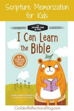 Memorizing scripture with the I Can Learn The Bible from Tommy Nelson. www.GoldenReflectionsBlog.com