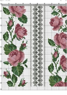 This Pin was discovered by Emb Cross Stitch Bookmarks, Cute Cross Stitch, Cross Stitch Borders, Cross Stitch Rose, Cross Stitch Flowers, Cross Stitch Designs, Cross Stitching, Cross Stitch Embroidery, Hand Embroidery Stitches