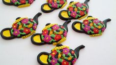 Teapot Buttons  1 3/8 inch long  8 by Boxtreasures on Etsy, $3.19