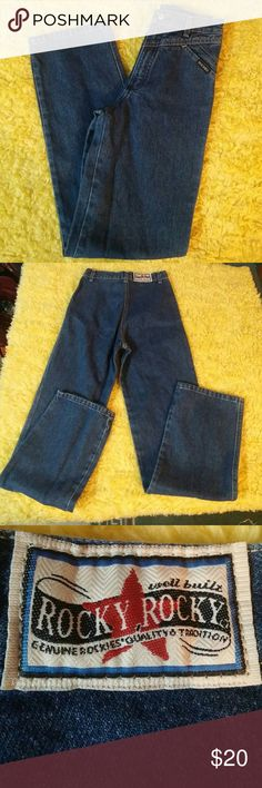 """💢BUY 1 ITEM AT FULL PRICE GET 2ND 50% OFF💢 ROCKIES Jeans size 12 S 31"""" inseam. High waist ROCKIES Jeans Straight Leg"""