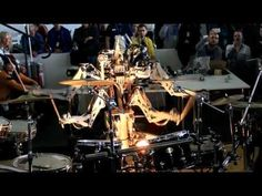 4 Armed Mohawked Robot playing the drums [HD 3D]
