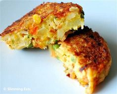 vegetable and cheddar patties | Slimming Eats - Slimming World Recipes