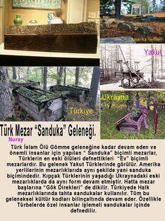 """Türk İslam Ölü Gömme geleneğine kadar devam eden ve önemli insanlar için yapılan """" Sanduka"""" biçimli mezarlar, Türklerin ölüleri defnettikleri  """"Ev"""" biçimli mezarlardır. Bu gelenek Yakut Türklerinde görülür. Amerika yerlilerinin mezarlıklarıda aynı şekilde yani sanduka biçimindedir. Kıpçak Türklerinin yaşadığı Ukraynadaki eski mezarlıklarda da aynı form devam etmiştir. Hatta mezar başlarına """"Gök Direkleri"""" de dikilir. Türkiyede Halk mezarlıklarında tahta sandukalar kullanılır. Tüm bu…"""