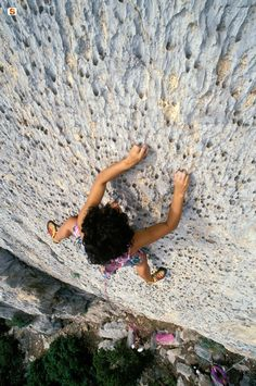 Sharp finger holds on a route at Verdon Gorge.  Must wreak havoc on your shoes.