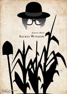 """Secret Window - great movie. Adaptation of a Stephen King short story called """"Secret Window in a Secret Garden""""."""