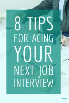8 tips for acing your next job interview... Article written by ItsReallyKita.com