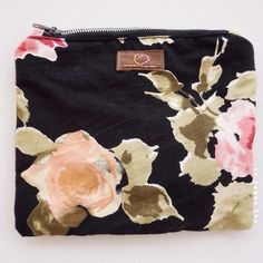 Upcycled floral pouch handmade in Italy by It Takes Two
