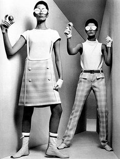 André Courrèges - French fashion designer, known for his ultra-modern designs. 1964