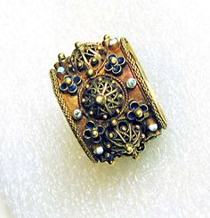 antique jewish wedding ring from italy 16th17th century muse dart - Hebrew Wedding Rings