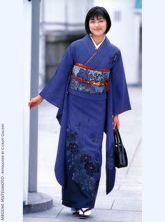 blue kimono #furisode