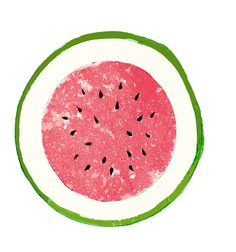 'Watermelon' by Le Tropique Studios Watermelon Cartoon, Watermelon Art, Watermelon Carving, Food Illustrations, Illustration Art, Watermelon Illustration, Party Mottos, Summer Prints, Print Packaging