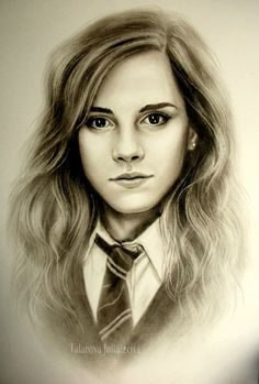 This artist has drawn an amazing picture of hermione granger (Emma Watson) Fanart Harry Potter, Harry Potter Hermione, Hermione Granger Drawing, Harry Potter Sketch, Images Harry Potter, Harry Potter Artwork, Harry Potter Drawings, Harry Potter Wallpaper, Harry Potter Quotes