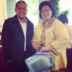 With Prof dr Pratiwi P. Soedarmono, SpMK, PhD