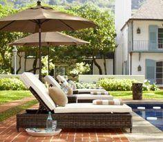 Poolside decor