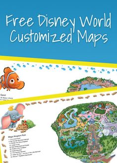 Get a FREE Disney Custom Printed Map - I ordered one and they are sooo nice! #disney #freebie