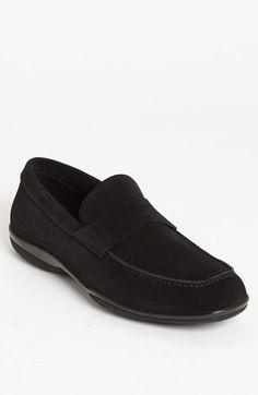 Men's Prada 'Toblac' Suede Penny Loafer