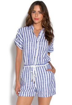 Perfect summer bbq romper thats fitting for your red, white, and blue firework holidays. Dress it up with a pair of high wedges or opt for a more casual look with flats.