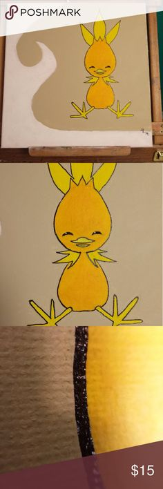 Torchic Acrylic Painting -Pokemon ORAS Awesome painting done by my talented Hubby. Makes the perfect gift for any age. Kami's Kloset Other