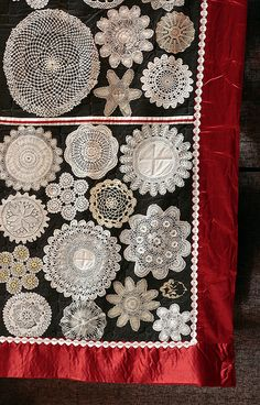 from the Festival of Quilts 2010 Flickr.com--A great idea if you have any doilies from your family or pick some up at flea markets and antiques stores