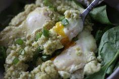 Eggs in Purgatory (Spicy Tomato Sauce) and  Eggs in Heaven (Cool Artichoke, Zuchinni & Dill) #egglandsbest