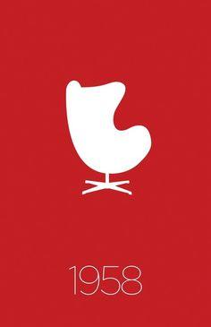Modern Furniture Classic 1958 Egg Chair / Jacobsen