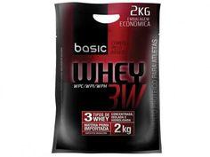 Refil Whey Protein 3W 2Kg Morango - Basic Nutrition com as melhores condições você encontra no Magazine Krvariedades. Confira!