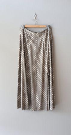 polka dot skirt / vintage midi skirt / Clay Dot midi skirt. MIDI SKIRTS are in!!!!!