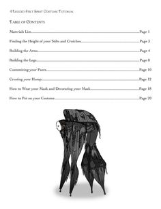 4 Legged Stilt Spirit Halloween Costume Tutorial As by Mel2DaIssa More
