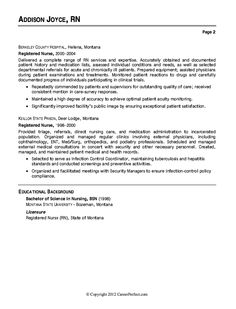 er nurse resume example examples registered