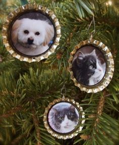 Glossy Photo Bottle Cap Ornaments | Heartwarming DIY Photo Ornaments To Craft For Christmas