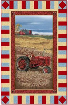 On The Farm Tractor Panel Quilt Kit #farmall
