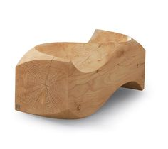 Loveseat | Design Jake Phipps | Sculptural twin bench in solid cedar. Suitable for indoors and out | Manufactured by Riva1920, 2008