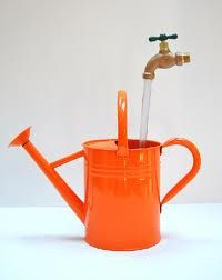 floating watering can fountain - Google Search