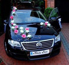 Auto Deko Hochzeit Rose schmuck Dekoration wedding car decoration