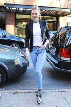 Karlie Kloss in Gigi Hadid's Shoes Is The Ultimate Sign of Friendship via @WhoWhatWear