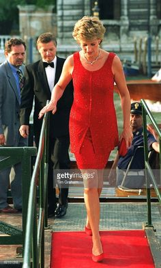 Diana In Venice. Her Dress Designed By Jacques Azagury