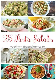 25 Pasta Salad Recipes - perfect for your next potluck or BBQ by veronicawasp