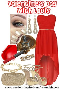 """Valentine's Day with Louis"" by one-direction-inspired-outfits ❤ liked on Polyvore"
