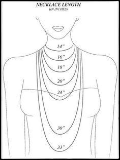 Great necklace length guide. I will start posting the lengths of my necklaces!