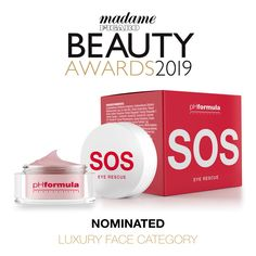 Our SOS eye cream was nominated for a Madame Figaro Beauty Award in Cyprus - in the Eye Creams, Luxury Face Category. Thank you for the nomination - we are honoured! Beauty Awards, Eye Creams, Cyprus, Personal Care, Luxury, Face, Eye Cream, The Face, Faces