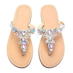 11cac9a60 From  24.99 ~ azmodo Women s Silver Hand Crafted Flip Flop Rhinestones  Flats Sandals Y22  sandals  flats  flipflops  shoes  womenfashion